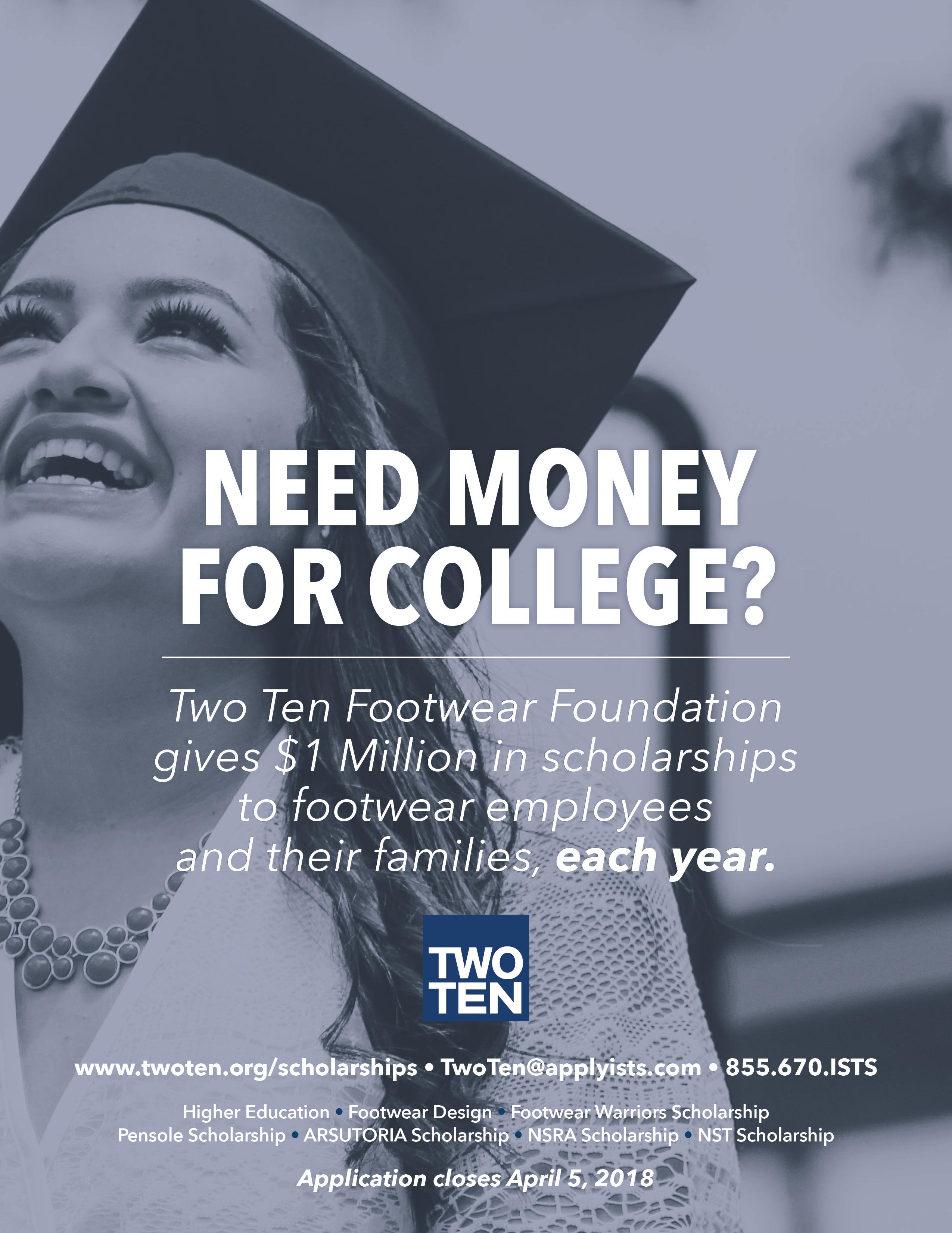 Scholarship Application Now Open! - Two Ten Footwear ...