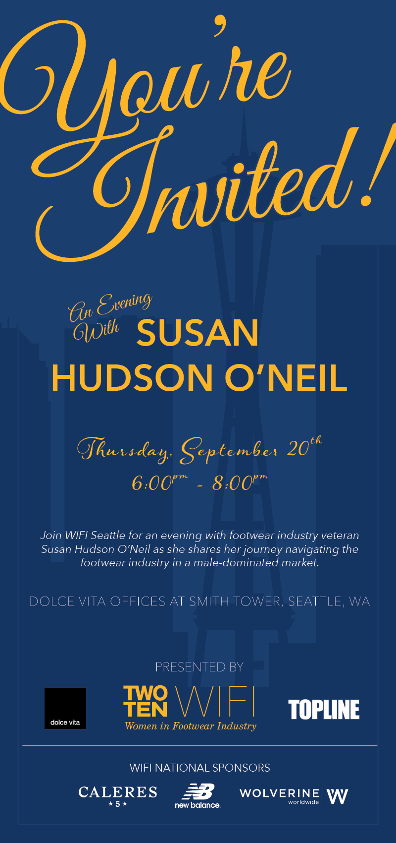 WIFI Seattle: An Evening with Susan Hudson O'Neil @ Dolce Vita Showroom @ Smith Tower