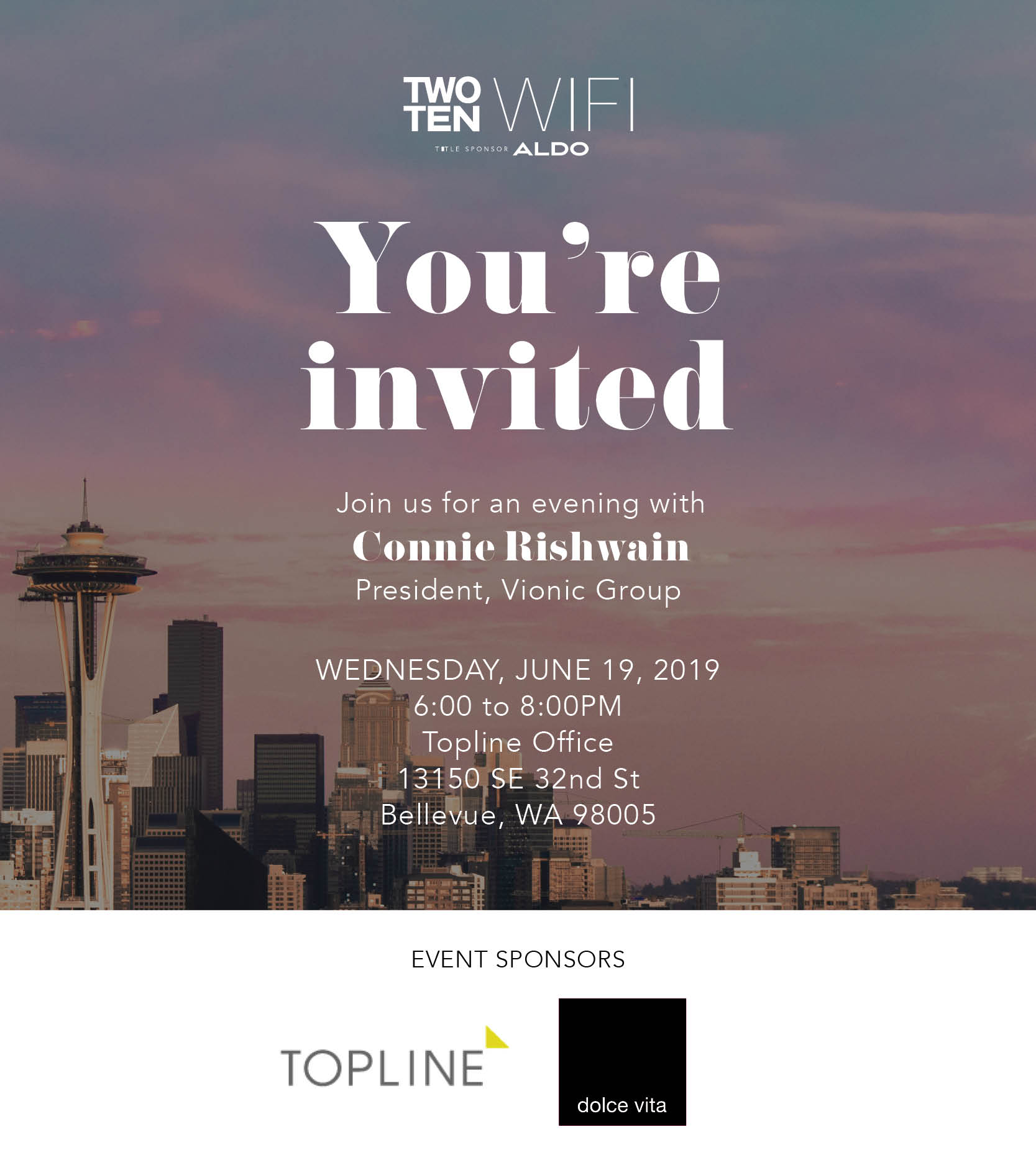 WIFI Seattle: An Evening with Connie Rishwain @ Topline Office | Bellevue | Washington | United States